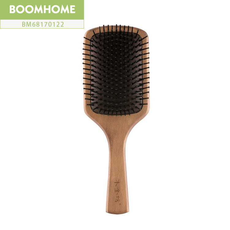 Health Anti-static Wooden Paddle Brush Large For Hairdressing