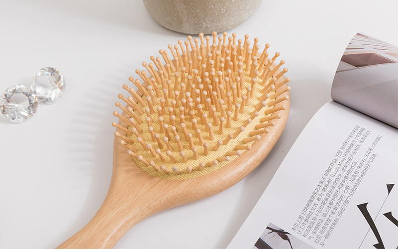 New wooden handle hair brush easy supply for home-3