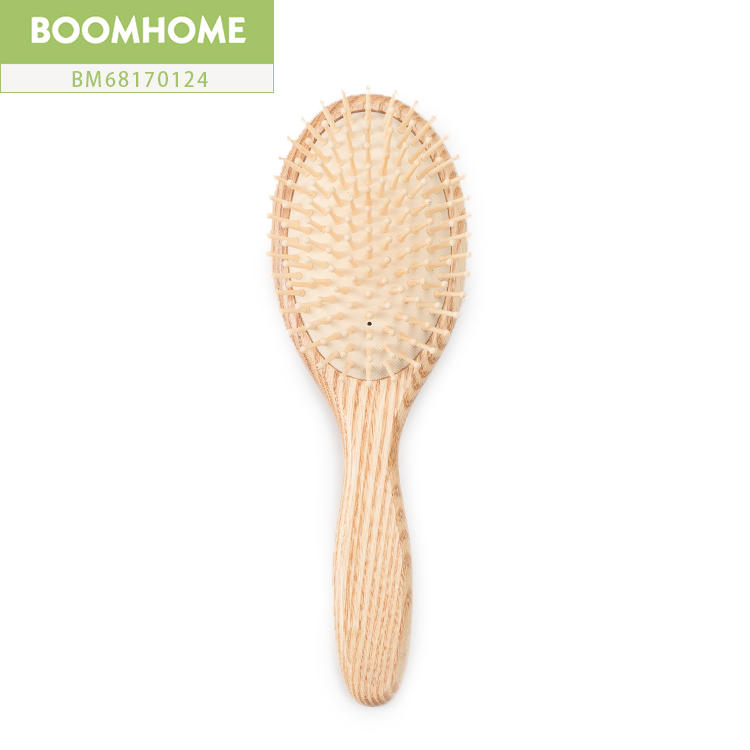 Anti-static Home Boar Hair Round Brush For Home Massage