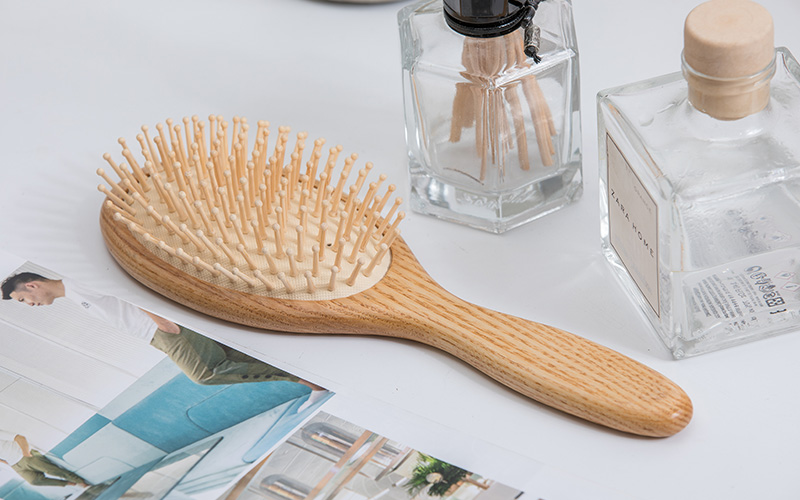 Boom Home bamboo wooden paddle hair brush manufacturers for home-1