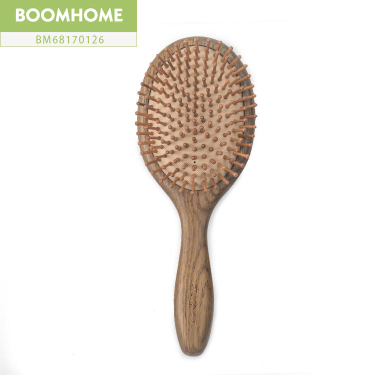 Natural Large Wooden Round Hair Brush Without Static Electricity