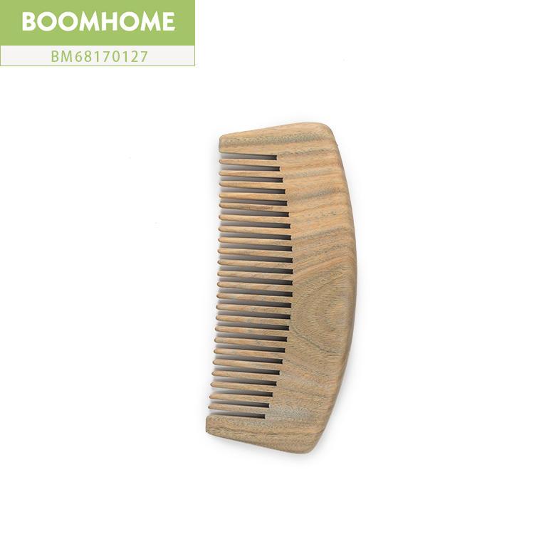 Custom Logo Natural Mahogany Massage Static Wooden Hair Comb For Travel Shop Sales