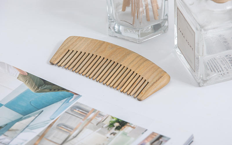 Boom Home round wooden comb design for travel