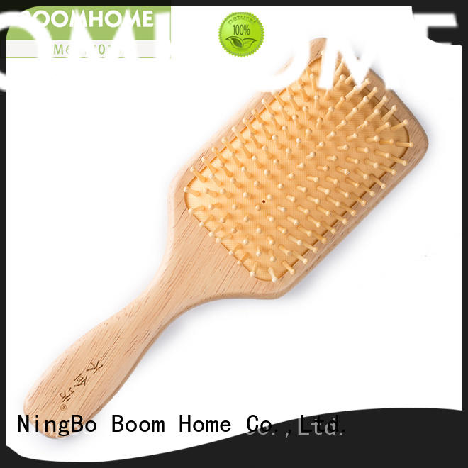 pocket wooden paddle brush with wooden bristles factory for shop Boom Home