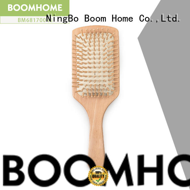Boom Home small bamboo hair brush personalized for curly hair