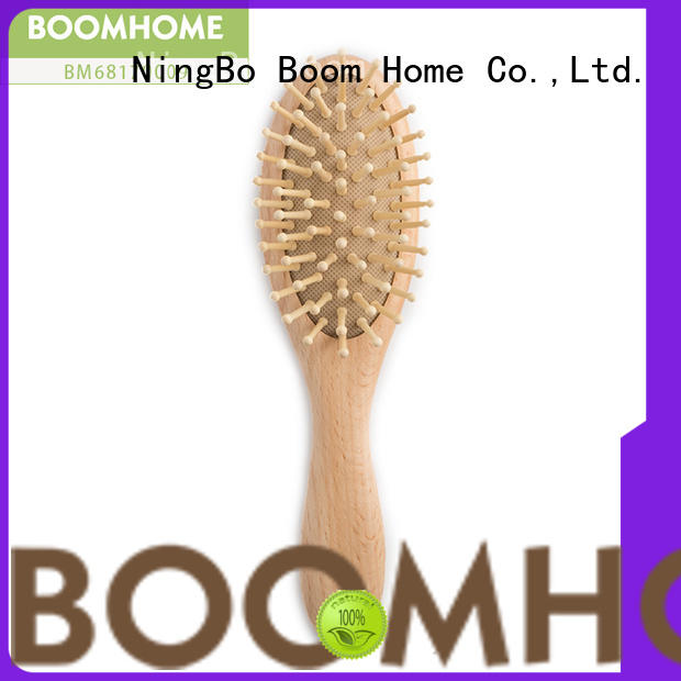 Top wooden baby hair brush bristle factory for trottie