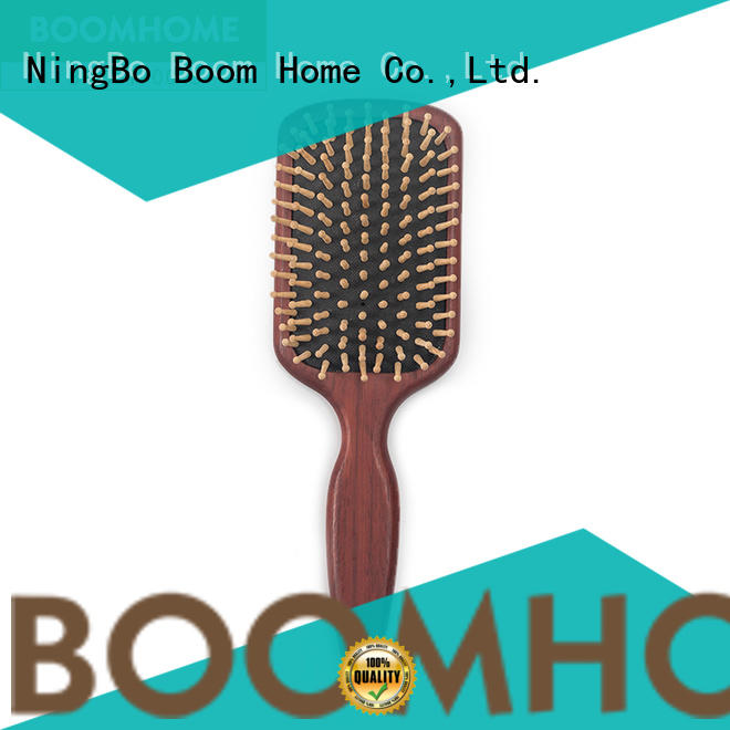 Boom Home paddle wooden handle hair brush design for travel