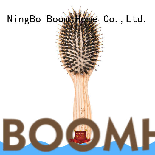 Boom Home anti-static wooden paddle hair brush design for shop