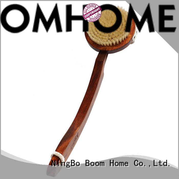 Detachable Long Handle Body Brush With Curved Beech Handle