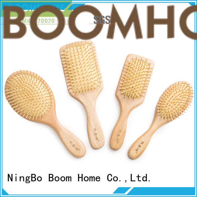 Boom Home horn wood hair brush factory for shop
