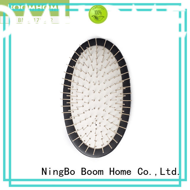 Boom Home airbag wood hair brush factory for travel