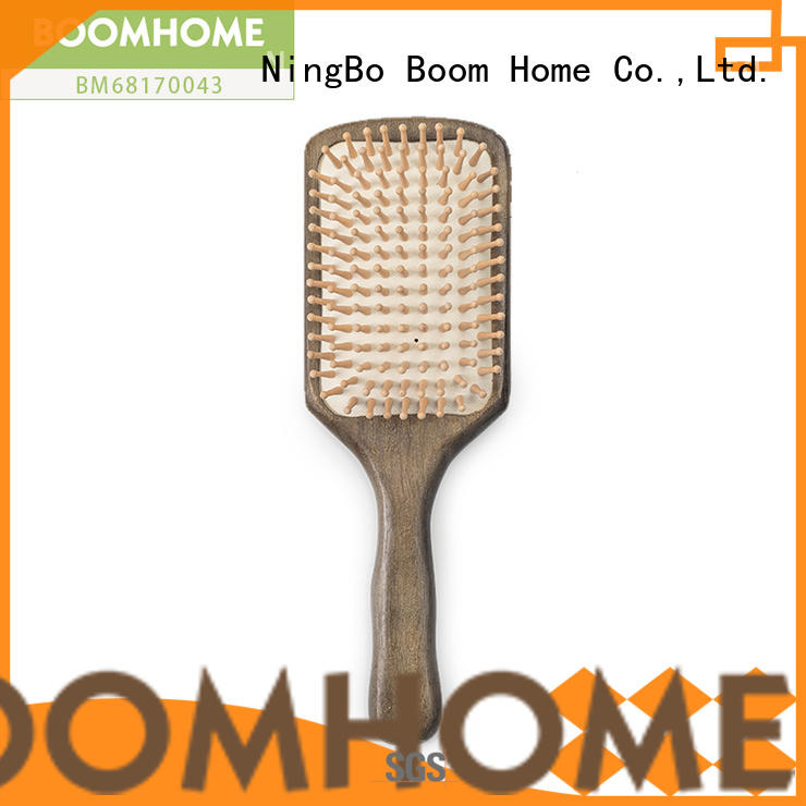 noble wooden handle hair brush easy with good price for hotel