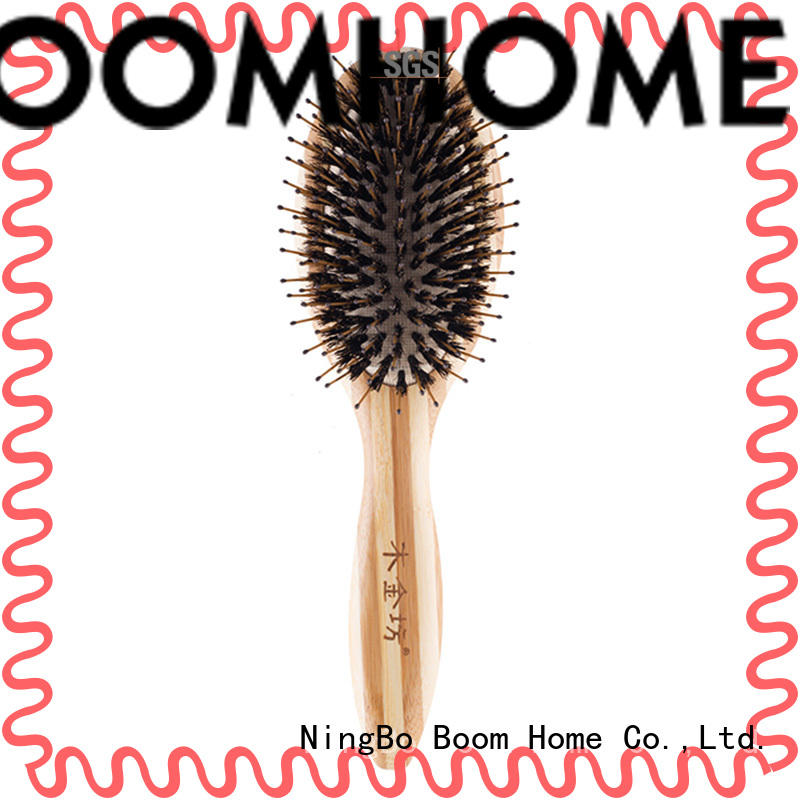 Boom Home long handle bristle hair brush factory for men
