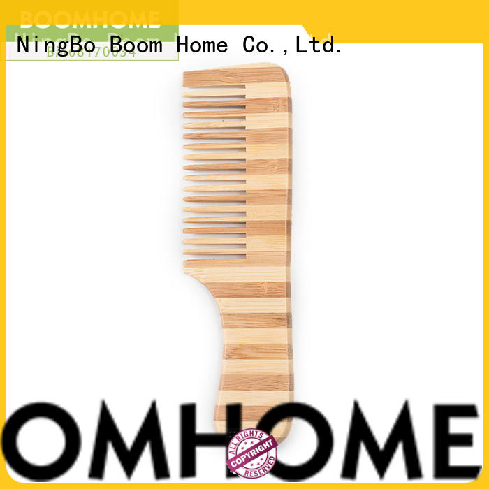 Boom Home oval bamboo hair brush personalized for women