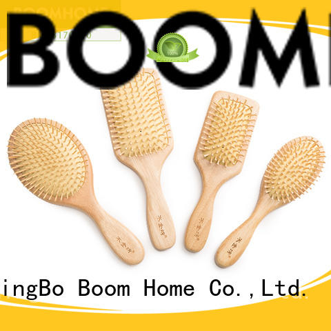 Boom Home Custom wooden handle hair brush for sale for shop