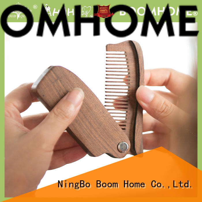 Custom wooden handle hair brush fashion suppliers for travel