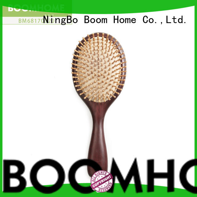 Boom Home bamboo wooden hair brush with good price for travel