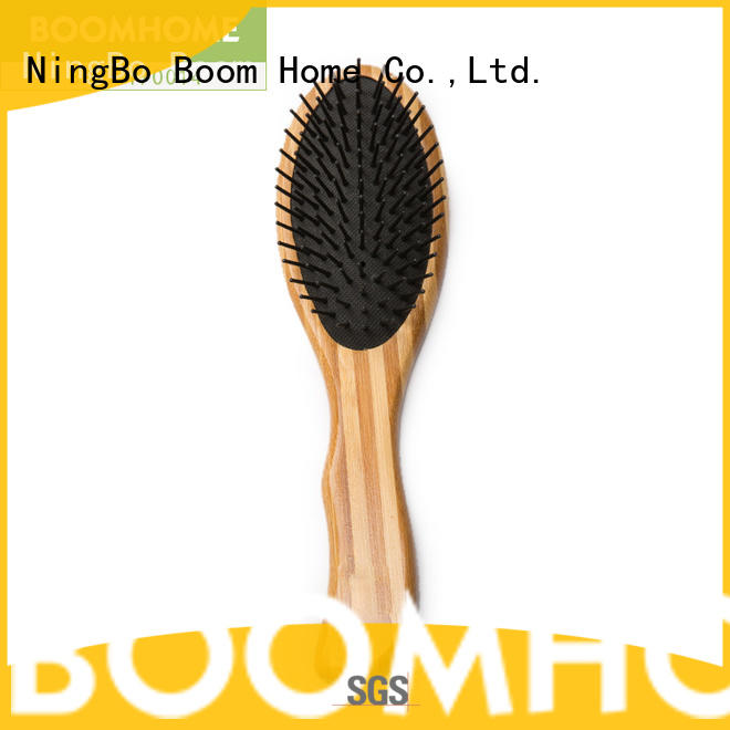 Boom Home smooth bamboo comb tool for thick hair