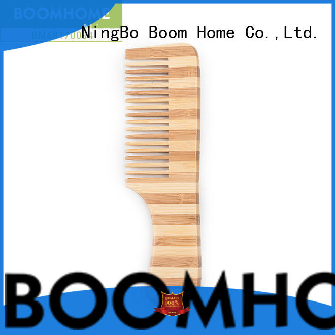 Boom Home round bamboo comb supplier for women