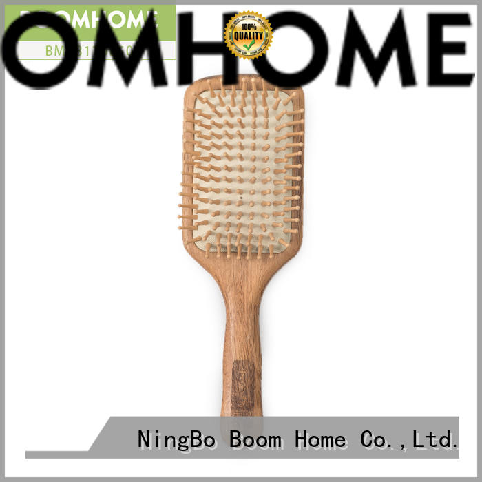 High-quality wooden paddle hair brush pin factory for hotel