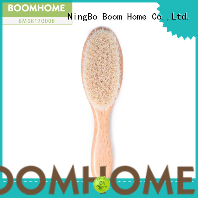 Boom Home wooden baby hair brush set manufacturer for infant