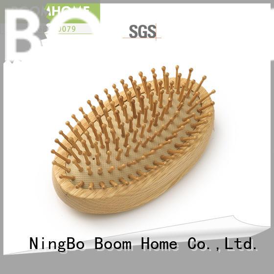 Boom Home needle wooden massage hair brush design for travel
