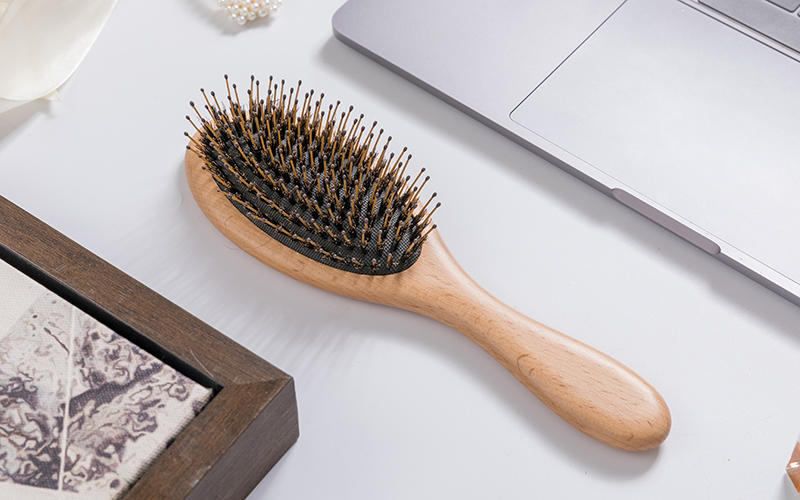 Boom Home wooden boar hair hairbrush with good price for men-2