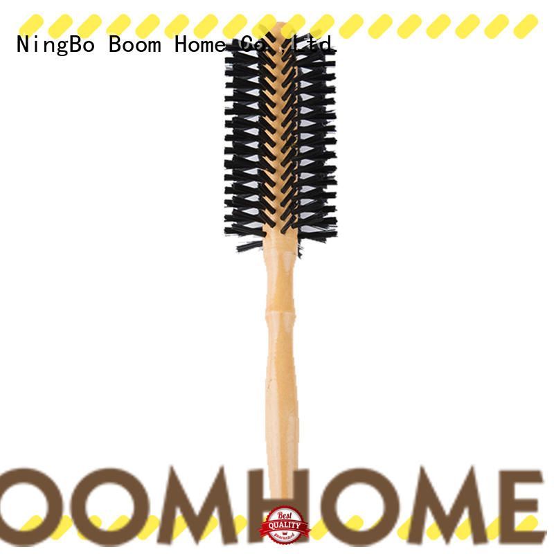 Boom Home handle round boar brush personalized for travel