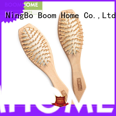 noble wooden paddle hair brush cushion factory for home