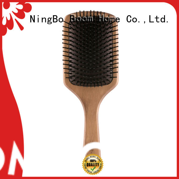 Boom Home stainless wooden handle hair brush factory for shop