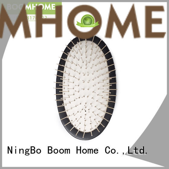 Boom Home oval wooden handle hair brush company for hotel