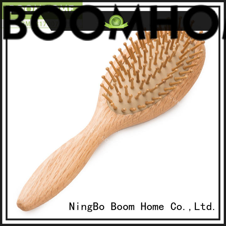 Boom Home pocket wooden hair brush inquire now for travel