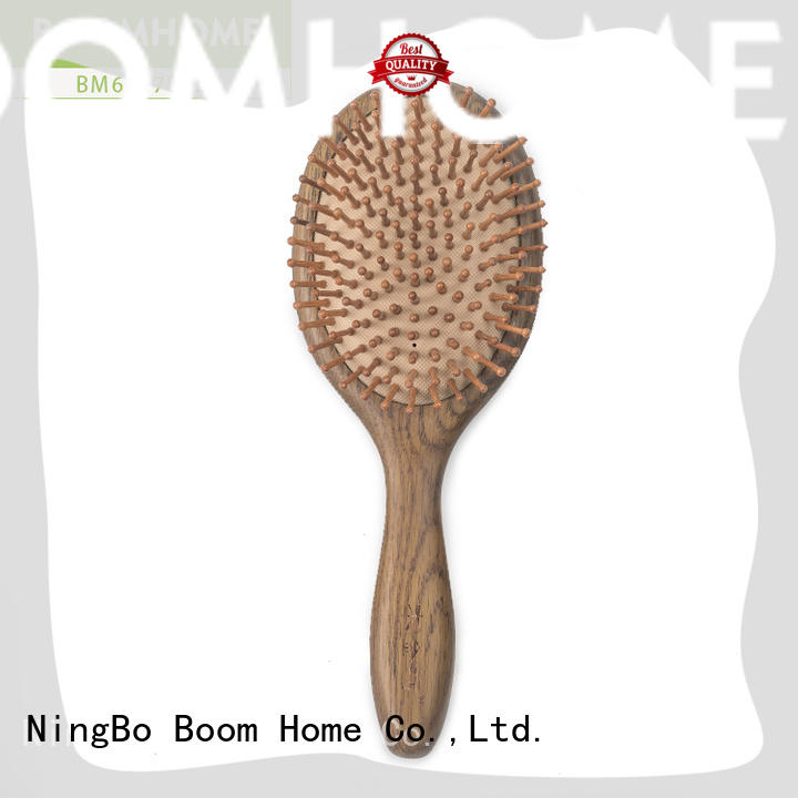 eco-friendly wooden paddle hair brush black design for home