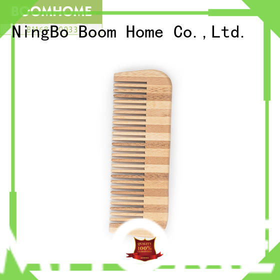 Boom Home natural bamboo hair comb supplier for men