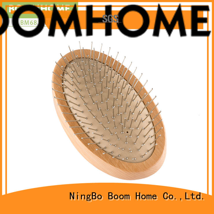 Boom Home anti-static wood hair brush with good price for travel