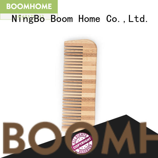 Boom Home oval bamboo hair comb personalized for curly hair