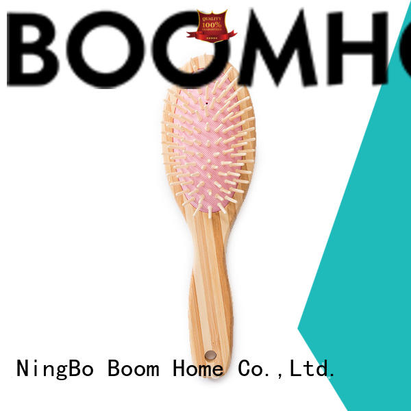 Boom Home cushion bamboo comb personalized for thick hair