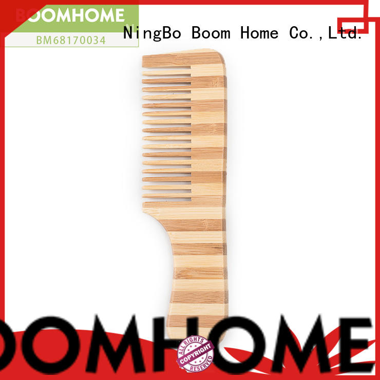 Boom Home silicone bamboo paddle brush wholesale for curly hair