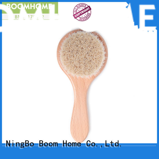goat hair wooden baby brush and comb set bristle for household Boom Home