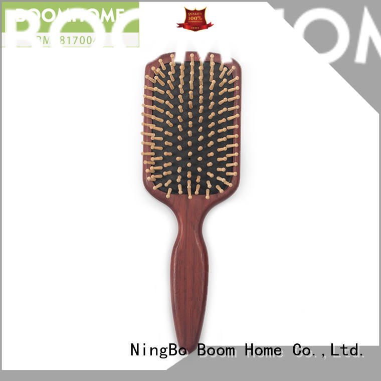 Boom Home Custom wooden paddle hair brush factory for hotel