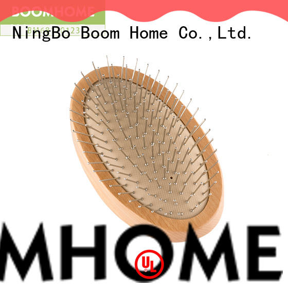 Boom Home static wooden paddle hair brush supply for travel