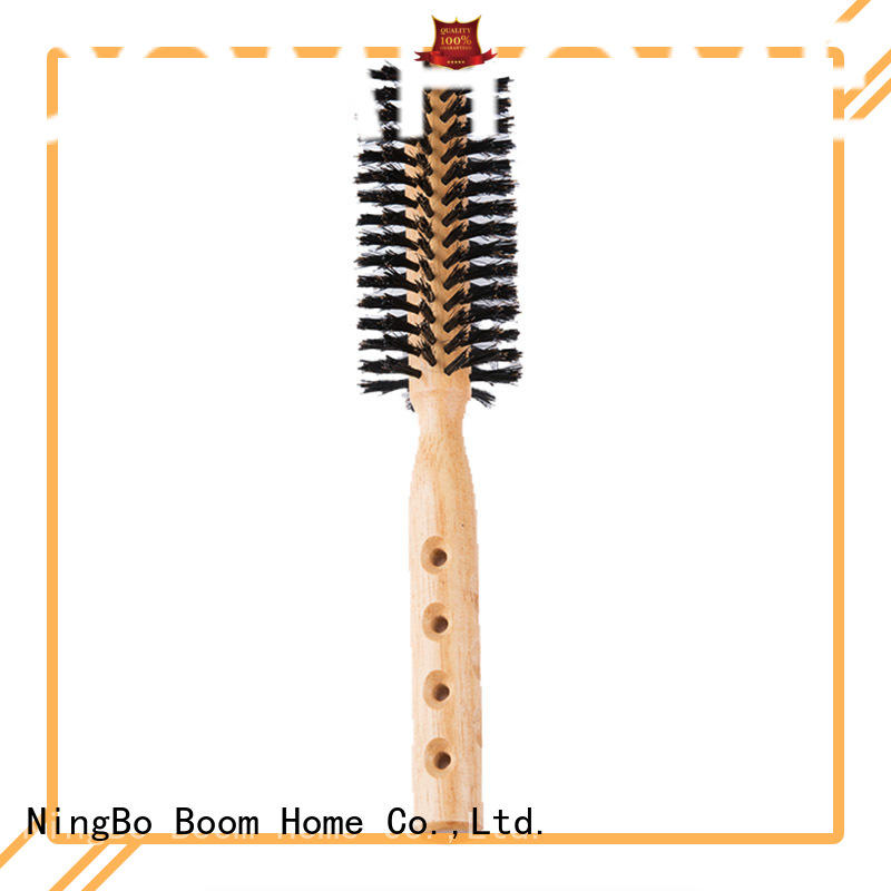anti-frizz round hair brush boar personalized for travel