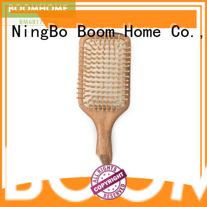 Boom Home natural wooden paddle hair brush with good price for hotel