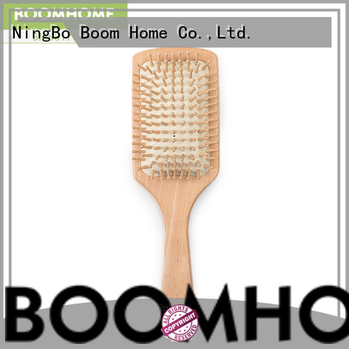 natural bamboo hair brush mini factory price for women