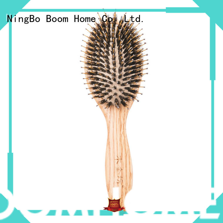 eco-friendly wooden paddle brush detangling design for home