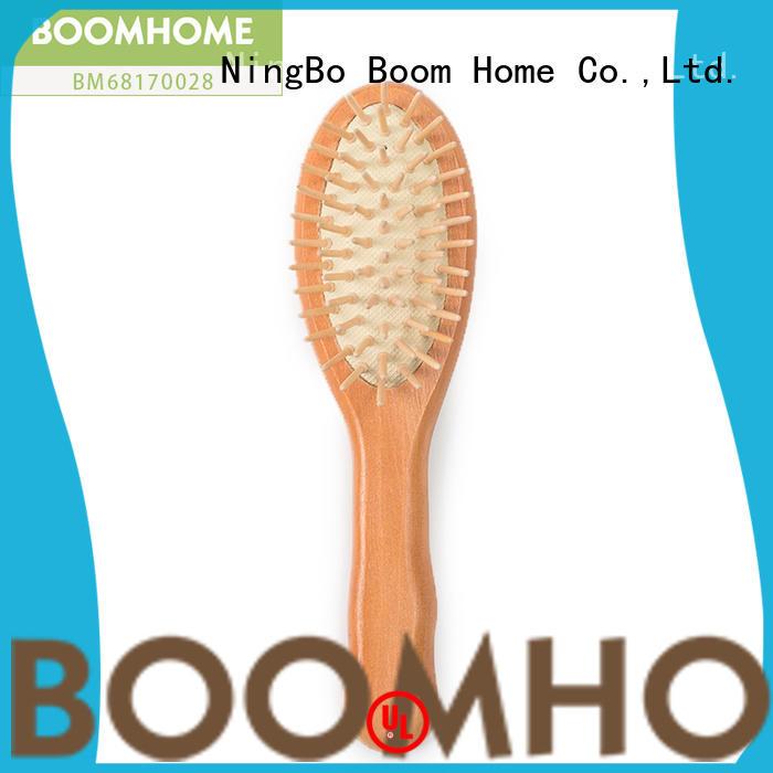 natural wooden handle hair brush detangling design for travel