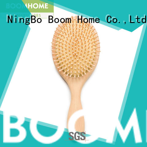 Boom Home round wooden comb factory for travel