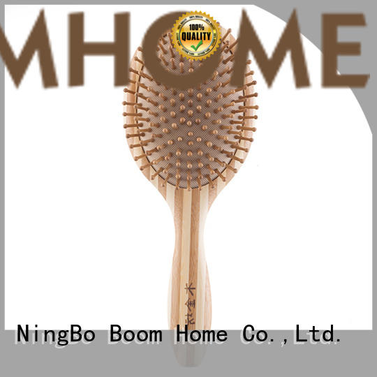 Boom Home eco-friendly bamboo pin brush personalized for men