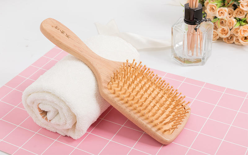 noble wooden hair brush private factory for travel-2