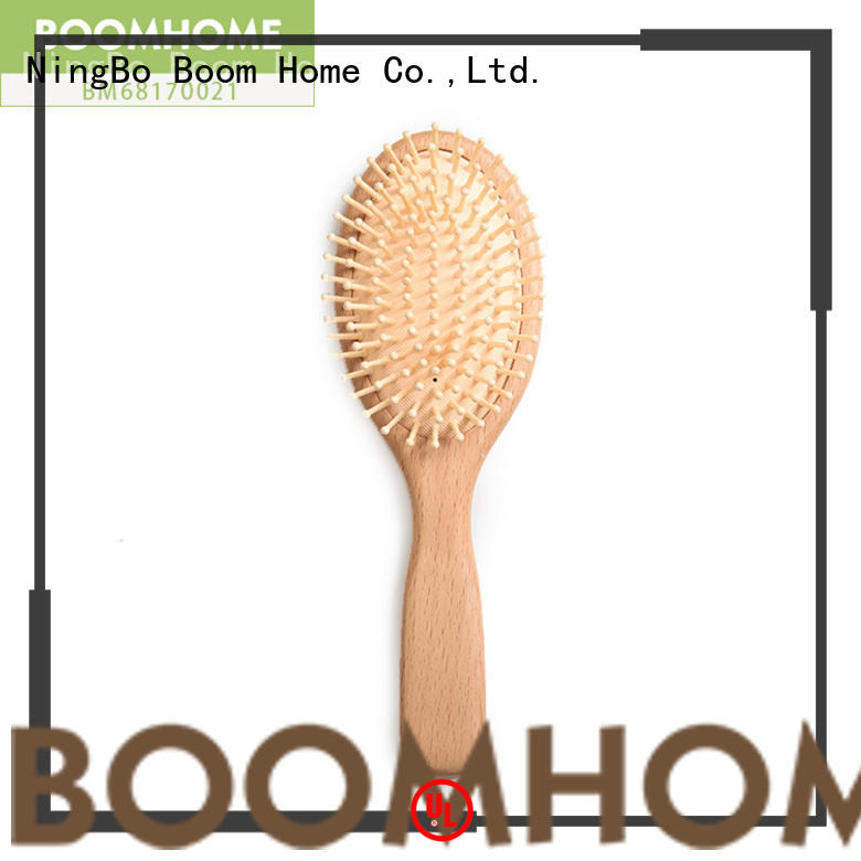 Boom Home massage wooden paddle hair brush factory for shop